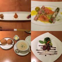 フランス料理のコースの一部です。
