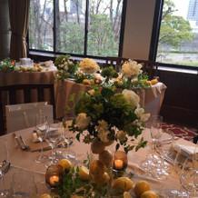 披露宴のテーブルです。