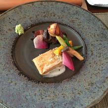 甘鯛の鱗焼と和牛フィレ肉