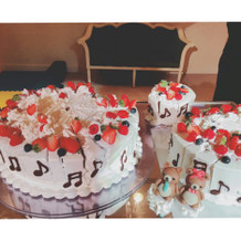 ケーキデザインは自分達で