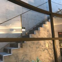 入場の階段
