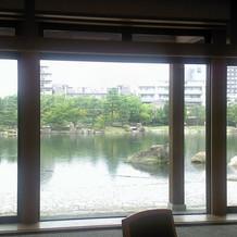 入場口。綺麗な湖。近隣ピル見えますが…
