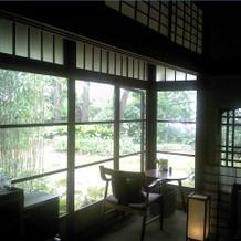 蘇山荘奥中庭側