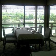 レストラン入って正面の眺望