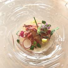オマール海老の前菜です