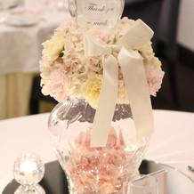 披露宴会場の装花