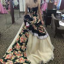 県民共済の和柄ドレスです。