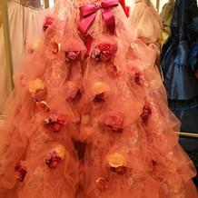 花柄 カラードレス