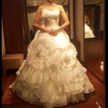 試着したウエディングドレス1
