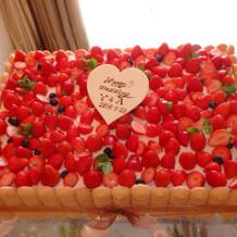 ケーキとても美味しかった!