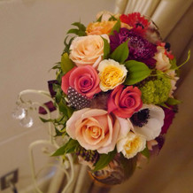 ブーケと花冠は生花で!