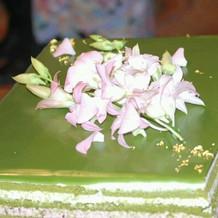 生花の飾りが綺麗でした