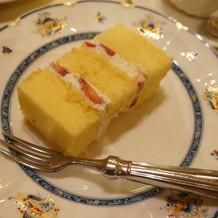 ウエディングケーキがおいしかった