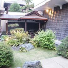 日本庭園のよう