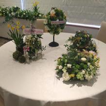 卓上のお花 選べるようです