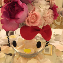 皆さんのテーブルのお花