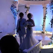 挙式の時に着たマーメイドドレス