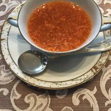中華コースの蟹スープ