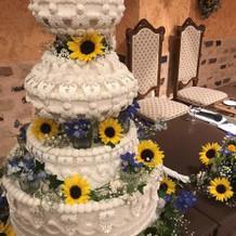 ウエディングケーキの装飾も素敵でした