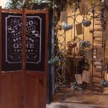 披露宴会場の装飾例です。
