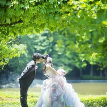 ウノちゃんデザインのドレスです。