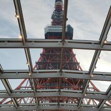 挙式場から見える東京タワーです!