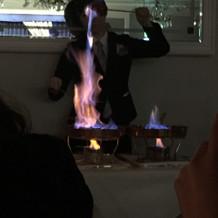 火を大きく上げてました