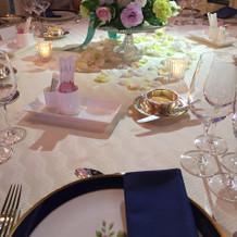 食事の来る前のテーブル