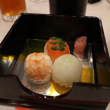 手毬寿司。美味しくておすすめ!