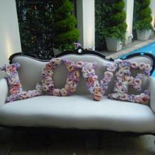 プールサイドのソファー