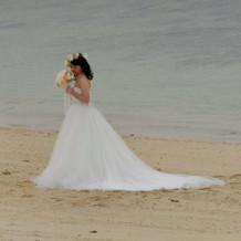 海辺で撮影しました!
