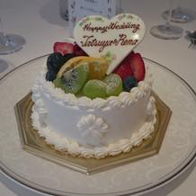 各卓でのケーキカット用ケーキ