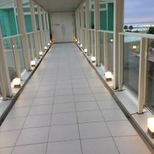 ホテルからの渡り廊下
