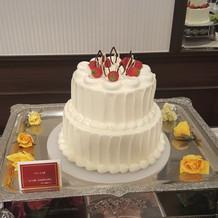 こちらがウェディングケーキです