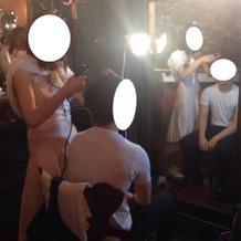 結婚式場の支度部屋です
