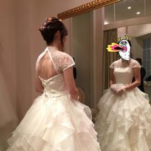 結婚式に着たウェディングドレス