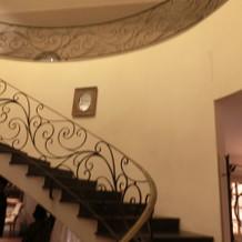 螺旋階段はとっても素敵でした。