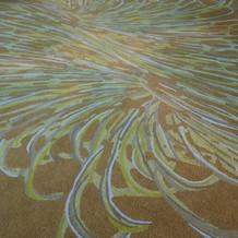 仙台の城瀬川をイメージした絨毯