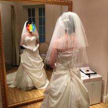 胸元がガバガバのウェディングドレス