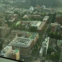 式場からは杜の都仙台が見えます。