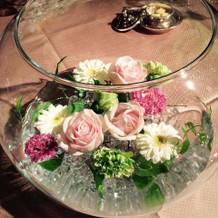 ゲストテーブル装花
