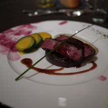 国産牛ロース肉のグリル