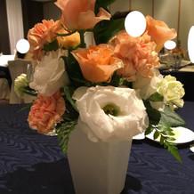 テーブルの花です。持ち帰れました。