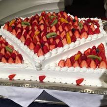 ウェディングケーキでした。