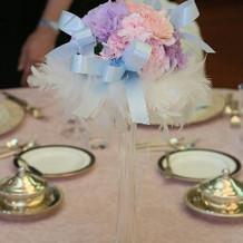 テーブル装花です。一番安いものです。