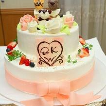 オリジナルケーキを作ってもらいました。