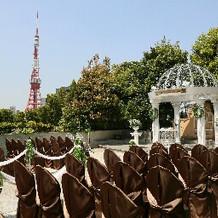 左手に東京タワーが見えます!
