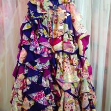 和装風のドレスです。