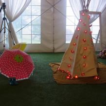 テントはガーデンの雰囲気ぴったり