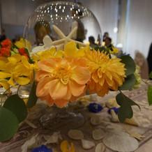 テーブルの装飾がオシャレ!